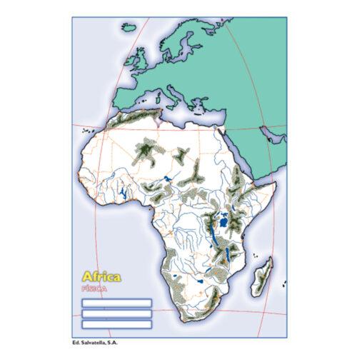 Mapa África física
