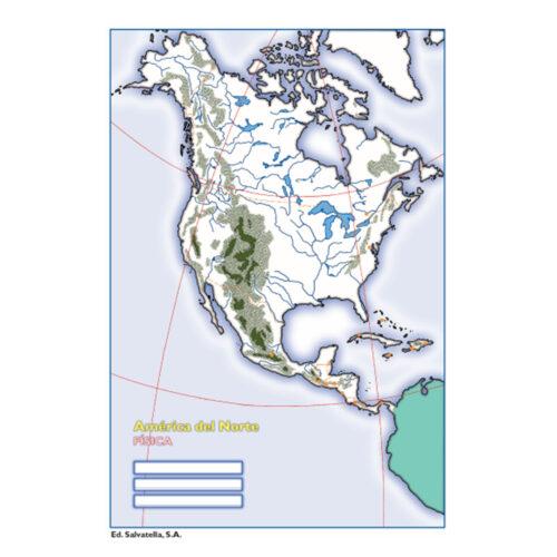 América del norte física