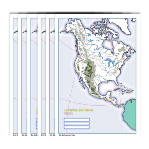 Col América del Norte física