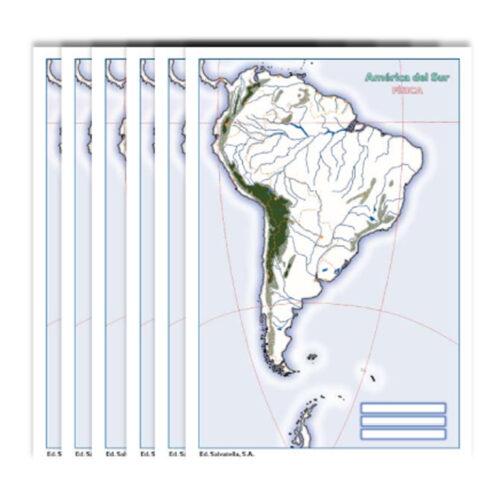 Col América del Sur física